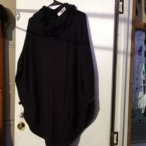 Navy sweater cape